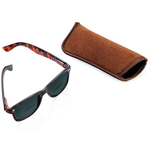 TROIKA Sun Reader de Lectura Gafas de Sol con 3dioptrías–sun30/BR–Marrón–bifocales lesesonn Gafas, Grosor + 3,0DPT, certificación TÜV, policarbonato, con Funda, Color marrón–El Original