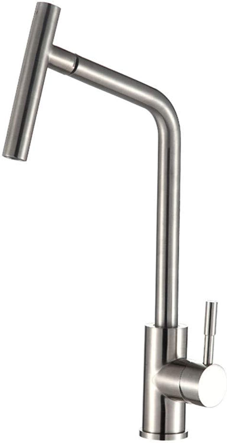 360° redating Faucet Retro Faucet Lead-Free 304 Stainless Steel Kitchen Faucet Health Vegetable Washing Basin Hot and Cold Water Tap Can Be redated
