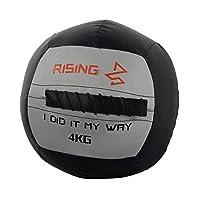 WXYZ メディシンボール クロストレーニング強度トレーニングに使用される4KG / 8.8LB柔らかい薬の球、耐摩耗性および耐下性のPU壁ボール