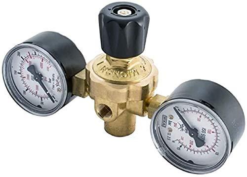 Réducteur de pression, filetage M10x 1Rh, série mignon pour bouteilles d'azote jetables + raccord SAE 1/4pour kit de climatisation