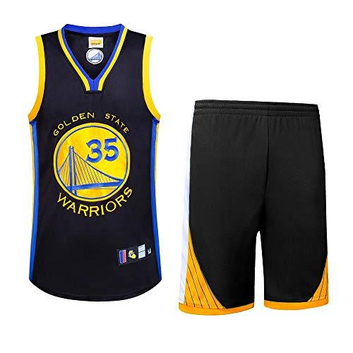 LHDDD NBA Abbigliamento Basket Warriors 35 Durant Jersey, Ricamo Artigianale,Felpa, Comoda Completo Sportivo da Uomo in Jersey Traspirante Traspirante Tuta all'aperto