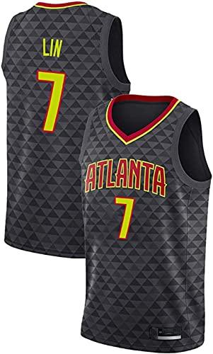 ASKI Sudadera de baloncesto Atlanta Hawks 7# para hombre, cómoda/ligera/transpirable, de malla bordada, 1, Xxl, 1 - L