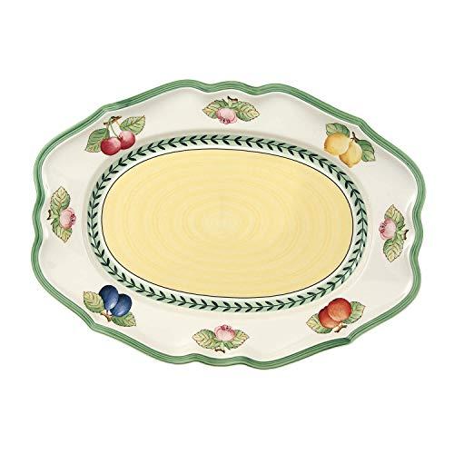 Villeroy & Boch French Garden Fleurence Plat ovale, 37 cm, Porcelaine Premium, Blanc/Multicolore