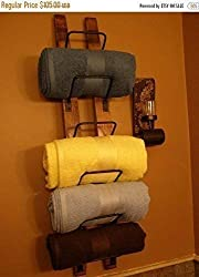 wine barrel stave crafts - towel rack