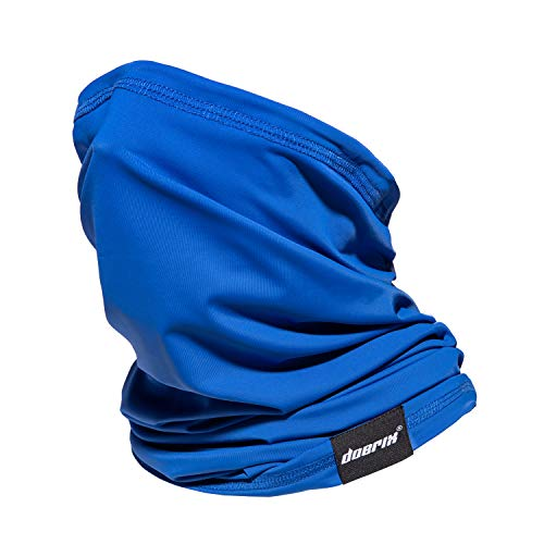 Neck Gaiter Face Mask Washable, Cloth Face Masks Reusable Bandana Face Mask, Sun Dust Protection Balaclava Face Cover Scarf Shield for Fishing Runing Hunting Cycling (1, Blue)