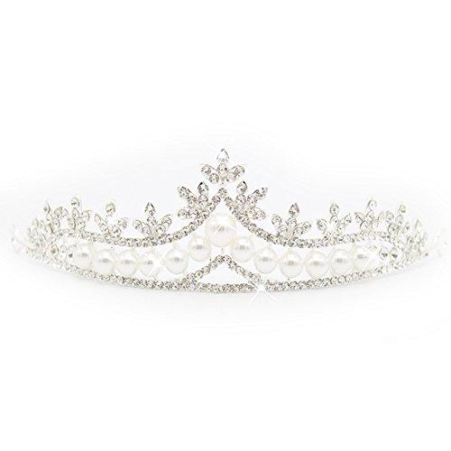lzndeal Mariage Nuptiale Cristal Perles Perles Tiara Bandeau Prom Fille Princesse Couronne Chapeaux Cheveux Accessiories