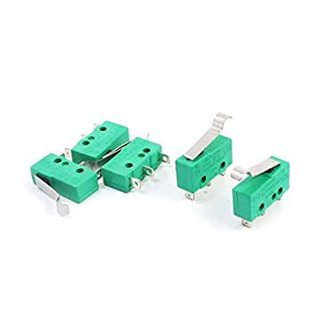 uxcell a14061700ux0924 AC 125V 5A Hinge Lever Micro Limit Switch KW4-3Z-3 for Mill CNC  Pack of 5
