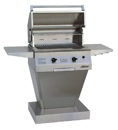 Solaire 27-Inch Basic InfraVection Propane Pedestal Grill,...