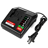 FLAGPOWER Multi-Chemistry Battery Charger for Porter Cable Cordless Power Tool 18V Lithium Ion & Ni-Cd Ni-MH Slide PC18BLX PCC489N