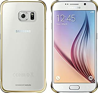 Samsung Clear Cover for Galaxy S6, Gold - ACSGHEFQG920BFEGWW