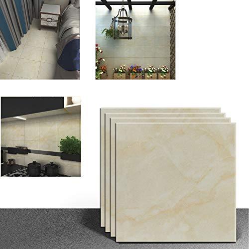 VEELIKE - Vinilo adhesivo con diseño de baldosas para el suelo, la pared, la cocina o el baño, protector contra salpicaduras, impermeable, autoadhesivo