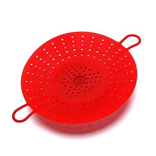 Yamyannie Rejilla de Vapor Caja Fuerte Plegable Caja de Vapor de Vapor de Vapor de Vapor de Vapor de Vidrio Vegetal Resistente al Calor de la Cocina de Silicona expandible Vapor para Cocinar
