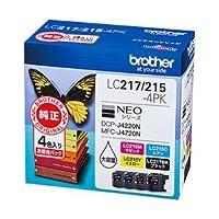 ブラザー インクカートリッジ 4色パック 型番:LC217/215-4PK 単位:1箱(4色パック) LC217/215-4PK ds-1367755