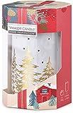 Yankee Candle Home Inspiration - Bruciatore a cera con 4 candeline a tema natalizio, colore: Bianco oro