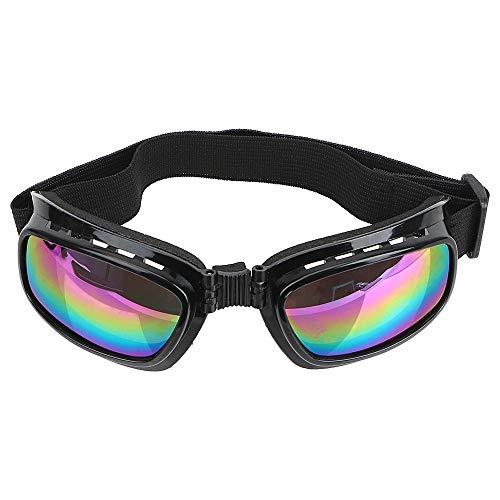 iTimo Motocross-Sonnenbrille, Faltbare Sport-Skibrille, mit verstellbarem Gummiband, Winddicht, blendfrei, UV-Schutz