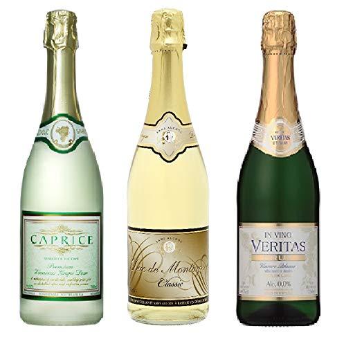 【ノンアルコール ワイン】スパークリング750ml3本セット デュク・ドゥ・モンターニュ,カプリース&インヴィノ・ヴェリタス