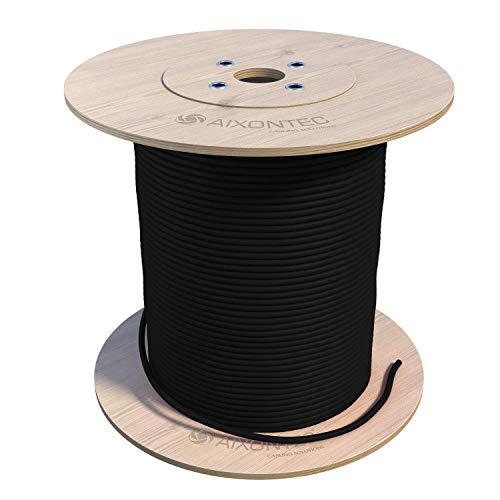 200m CAT 7 Erdkabel S FTP PiMF Gigabit geschirmtes Kat 7 LAN Ethernet Installation Netzwerk kabel AWG23/1 mit PE Außenmantel UV-Beständig zur Verlegung im Außenbereich und in der Erde