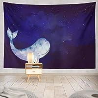 Jbralid 星空の物語の妖精のクジラ おしゃれで快適です 壁掛け 装飾布 インテリア ウォールアート 多機能 室内 窓や壁の飾り パーティー用 お店 オリジナルプレゼント