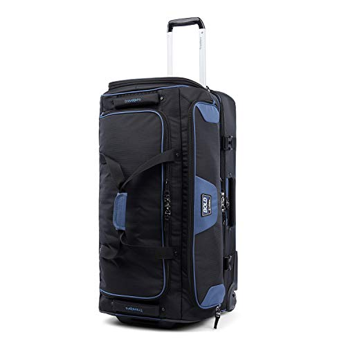 Travelpro Bold-Drop Bottom Wheeled Rolling Duffel Bag, Black/Navy, 30-Inch