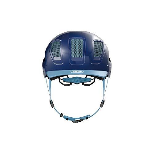 ABUS Hyban 2.0 Stadthelm - Robuster Fahrradhelm für den Alltag mit ABS-Hartschale - für Damen und Herren - 86919 - Blau, Größe XL