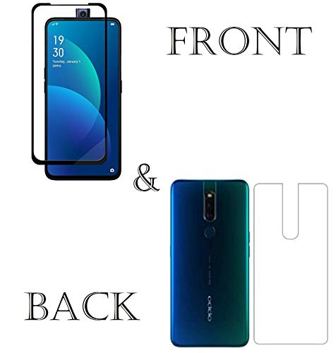 MOBiZAFS 6D Tempered Glass Full Glue & Back Skin Screen Guard Edge-to-Edge Screen Protection for Oppo F11 Pro