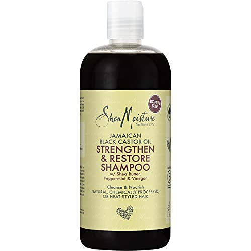 Shea Moisture Jamaican Black Castor Oil Strengthen and Restore Shampoo, 473 ml