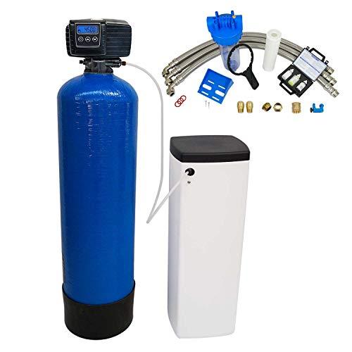 Addolcitore d'acqua biblocco 30 l, con valvola Fleck 5600SXT, completo