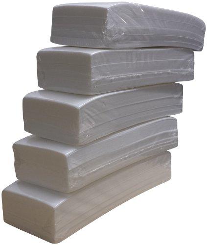 Lote de 500 bandas de papel para depilación con cera (5 paquetes de 100 unidades)