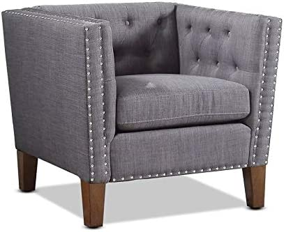 Best Steve Silver Campbell Grey Accent Chair