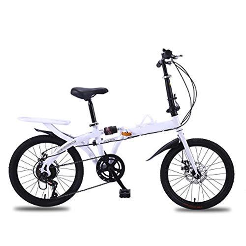 ABDOMINAL WHEEL Bikes Bicicleta Plegable Urbana,Bicicleta Plegable-Cambio de 6 Velocidades con Piñón...