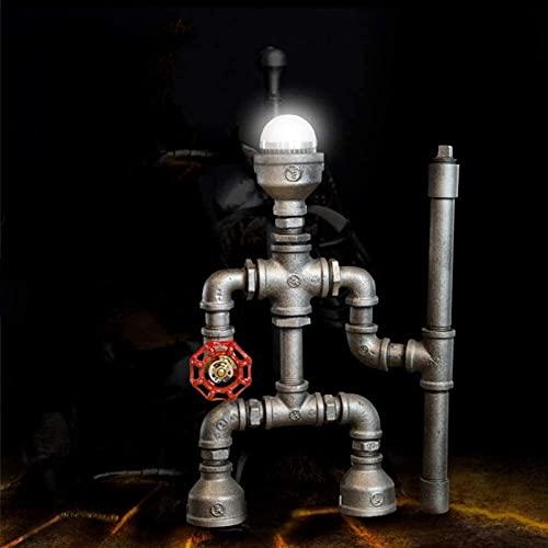 nakw88 Lámpara Escritorio Lámpara de Mesa de Agua Retro Robot Creativo Bar cafetería decoración 20 * 34 cm