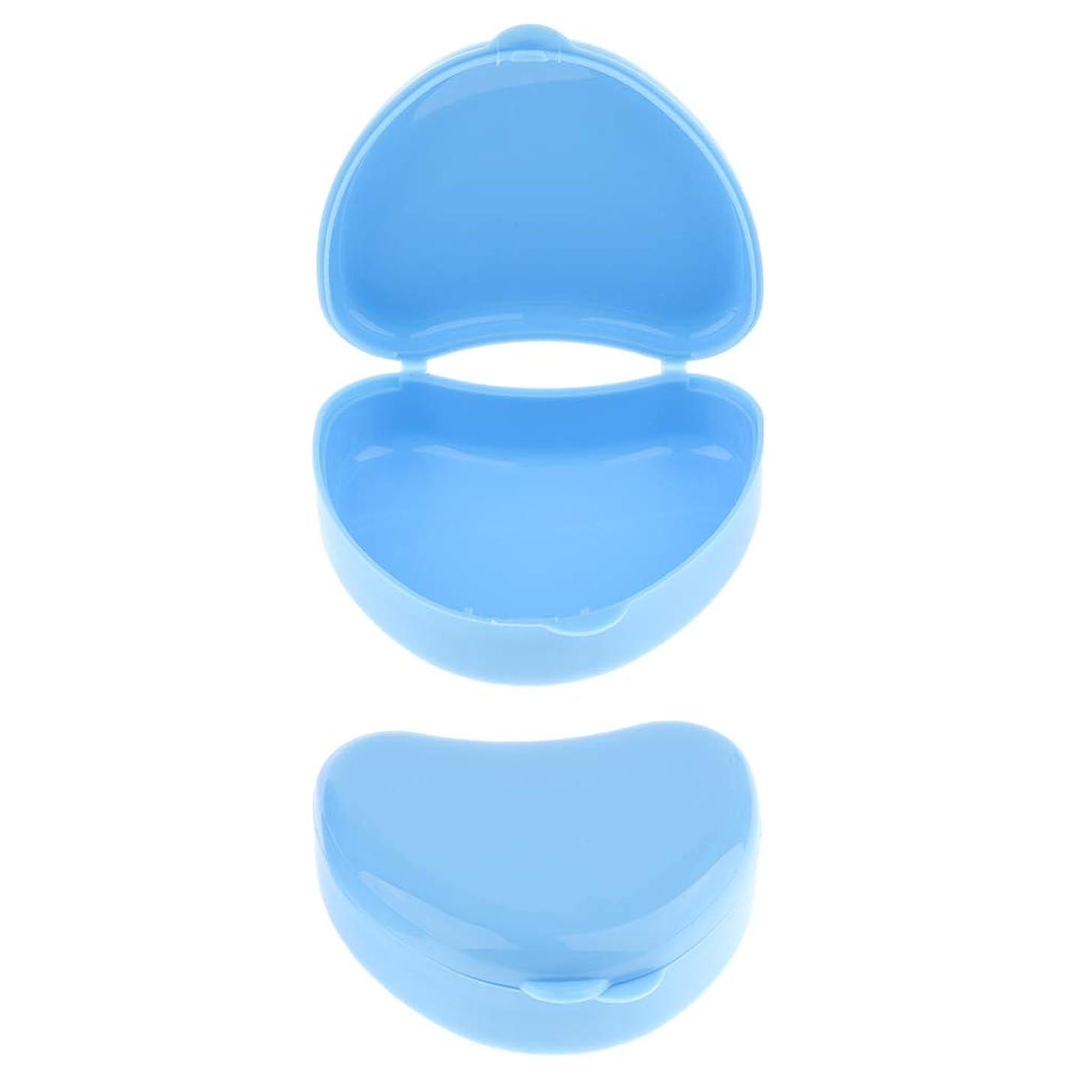 磁気選出する辞任sharprepublic 義歯ケース 義歯ボックス 義歯収納容器 マウスガードケース リテーナーポケット ハート型 全3色 - 青