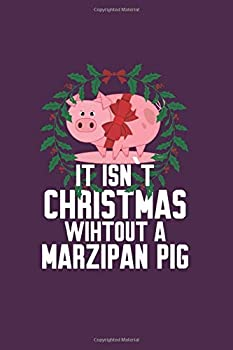 Marzipan Pig  Funny Traditional Norwegian Christmas Gift 6X9 Graph Paper Journal