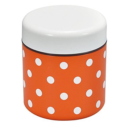 宮本産業 弁当箱 ダブルウォールランチ ドット オレンジ (上段)250ml (下段)300ml