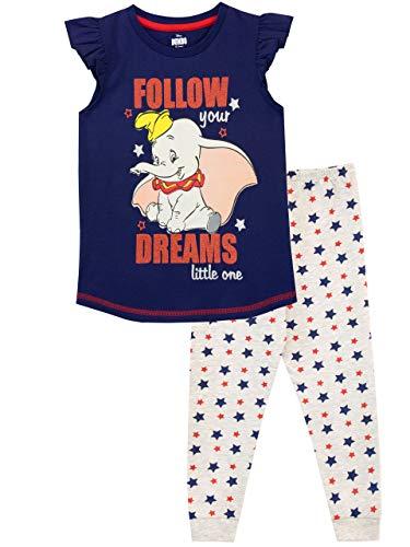 Disney Mädchen Dumbo Schlafanzug Blau 122