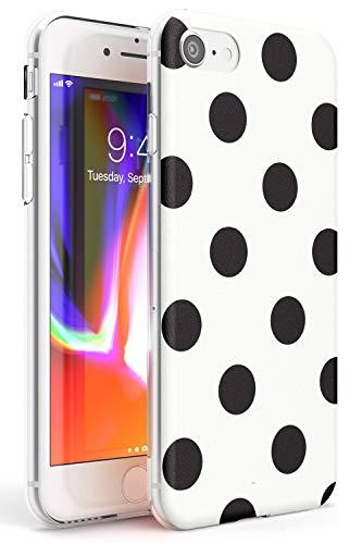 Case Warehouse Enfriar Blanco del Lunar Slim Funda para iPhone 7 Plus TPU Protector Ligero Phone Protectora con La Manera Caliente De Tendencia Moda Lindo