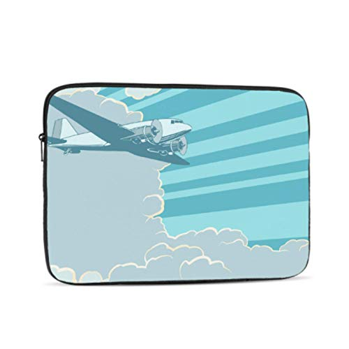 Laptop 13 Inch Case Closeup Historical Vintage Airplane Travel A1534 Macbook Case Multi-Color & Size Choices10/12/13/15/17 Inch Computer Tablet Briefcase Carrying Bag