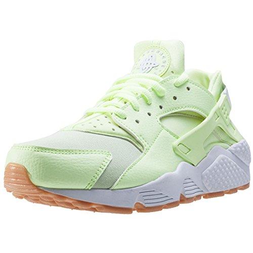 Nike Wmns Air Huarache Run, Entrenadores Mujer, Verde (Barely Volt/White/Gum Yellow), 40.5 EU