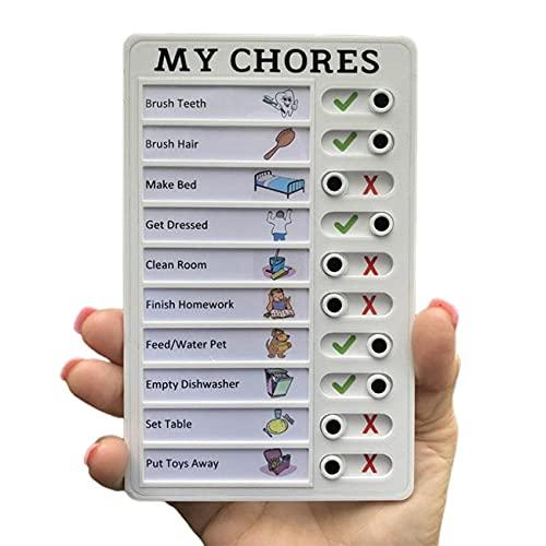 NancyMissY ポータブルチェックリストノートボード毎日行うことリストメモ帳とスライダープランナーチェックリスト私の家族のためのチェックリストノート