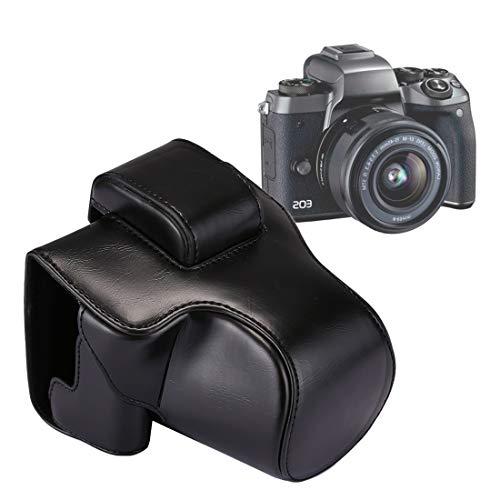 EASON Caméra Wide Body PU Housse Sac en Cuir avec Sangle for Canon EOS M5 (Noir) Caméra de Voyage (Color : Black)