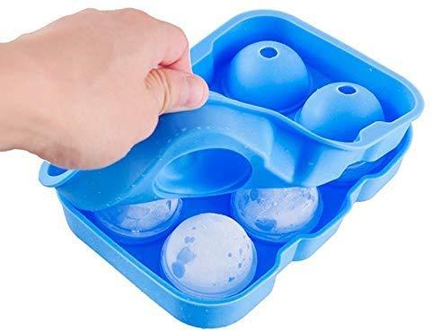 HTL Food Grade Mold Ice Cube Maker Ice Moule 6 Trous Ice Cube Tray Big Ronde Sphère Silicone Ice Maker Boule Bar Accessoires de Cuisine Choix: Couleurs Aléatoires