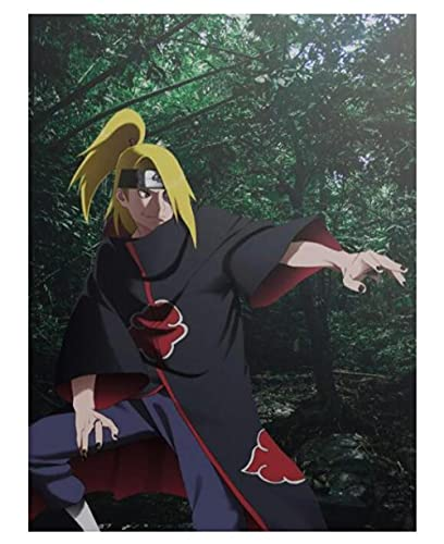 COVERLETWARM Dipinto Fai da Te con I Numeri Hokage Ninja Large Anime Poster Artwork Uchiha Madara Sasuke Akatsuki Pain Digital Home Decor A 40X50Mm (con Cornici)
