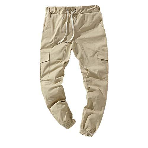 N\P Streetwear Pantalones de chándal de los hombres de cintura elástica pantalones Hip Hop harén pantalones para hombre multi bolsillo pantalones de trabajo