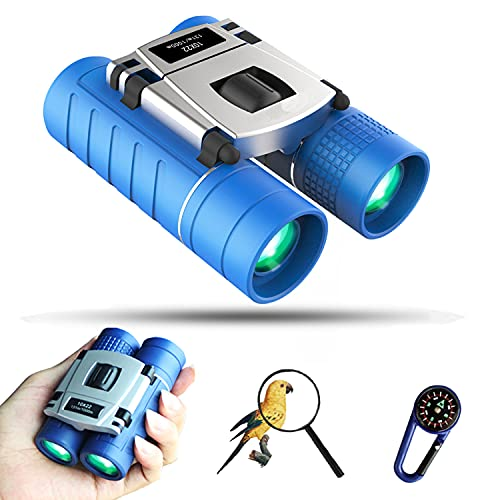 Binoculars for Kids with Exploration kit, 10X22 HD Compact Binoculars for Bird Watching/Camping/Traveling/Expedition