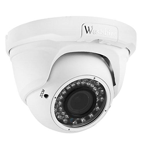 Westshine 4MP Sicherheit AHD Kamera 2.8mm-12mm Varifokal Objektiv Dome Kamera TVI/CVI/AHD/CVBS IR-Cut 36 IR LEDs 100ft Nachtsicht Indoor Outdoor-Kamera mit OSD Menü (Varifocal 4MP)