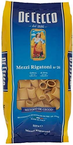 10x Pasta De Cecco 100% Italienisch Mezzi Rigatoni n. 26 Nudeln 500g