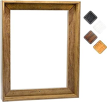 Canvas Floating Frame Picture Wall Art Painting Frame for 24x30 Inch Finished Canvas Light Brown 25x31 Inch
