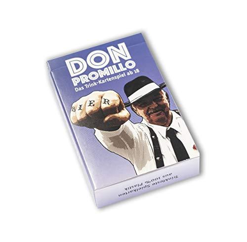 Town Rocket Games Don Promillo – Das Trink-Kartenspiel - Perfekt zum Vortrinken, Jungesellenabschied oder für den Männerabend - Trinkspiel - Saufspiel - Partyspiel, 94/62,M, Blau