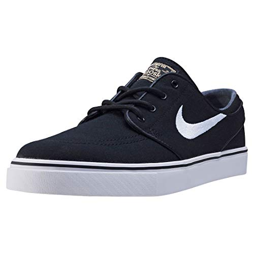 Nike Zoom Stefan Janoski Black/Gum Light Brown/Metallic Gold Star/White Skate Shoes-Men 9.5, Women 11.0