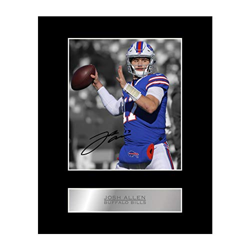 Josh Allen Signed Mounted Photo Display Buffalo Bills #01 NFL Printed Autograph Gift Picture Print